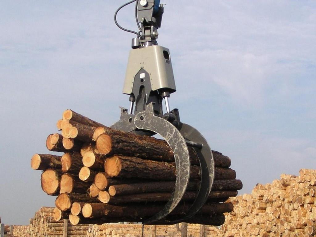 Holzzange Holzgreifer