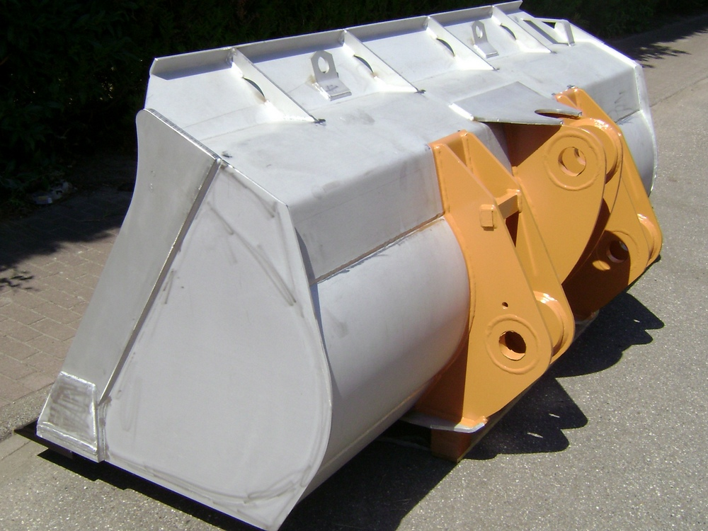 Ladeschaufel V2A Edelstahl Direktanbau Case