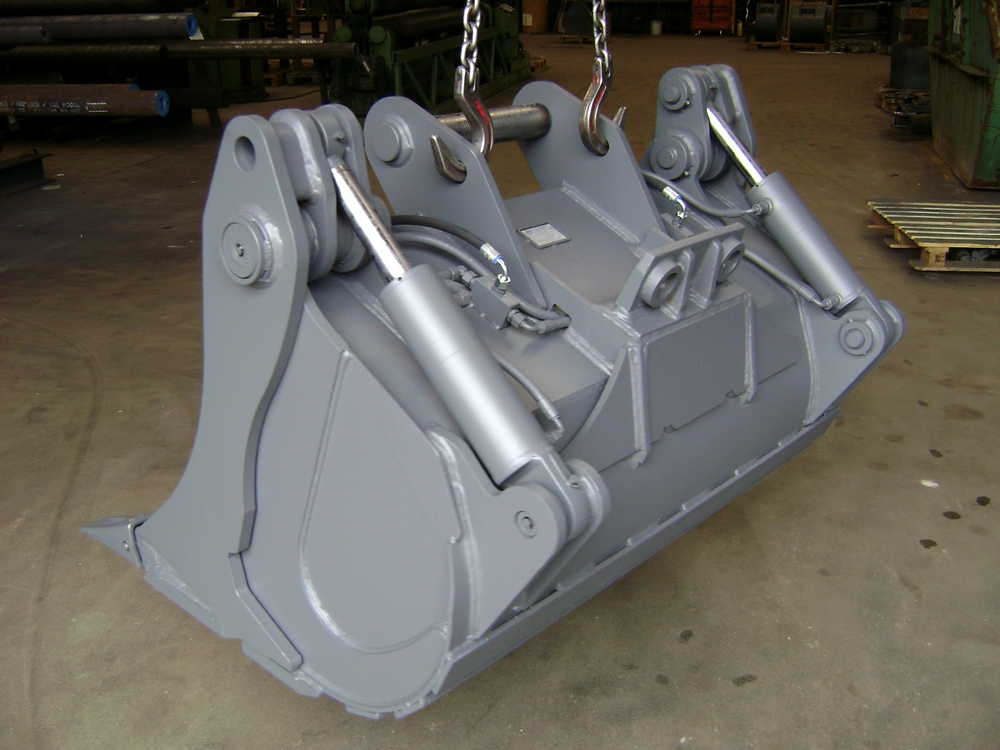 Klappgreifloeffel Hydraulikbagger