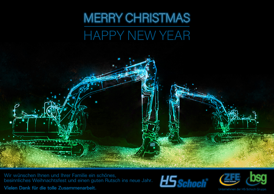 HS-Schoch wünscht frohe Weihnachten_Baumaschinen