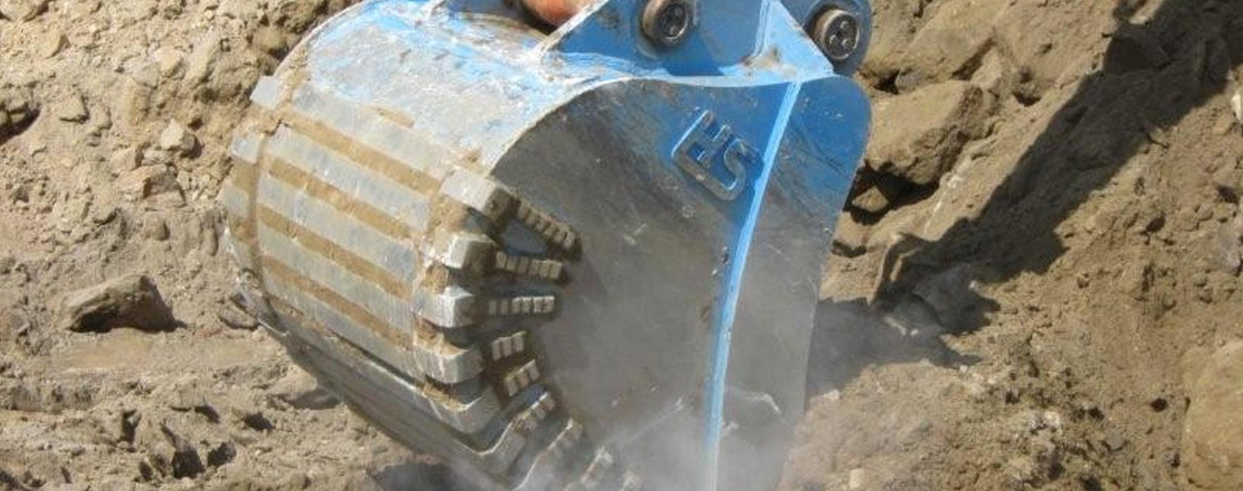 Backhoe hydraulic bucket excavator